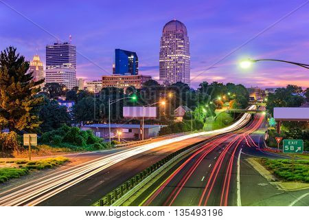 Winston-Salem, North Carolina, USA skyline.