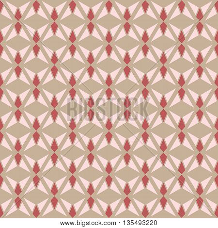 Seamless geometry vector texture pattern in brown background