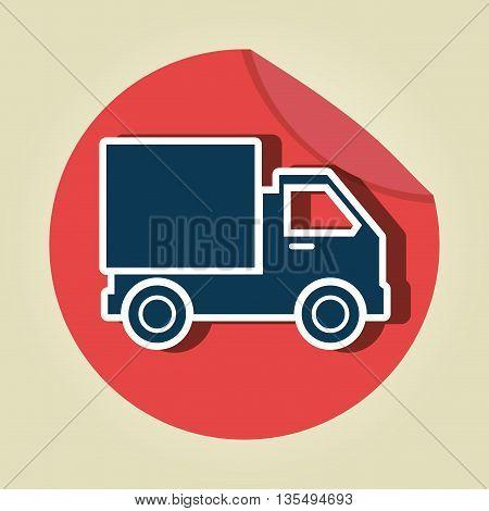 truck icon  design, vector illustration eps10 graphic