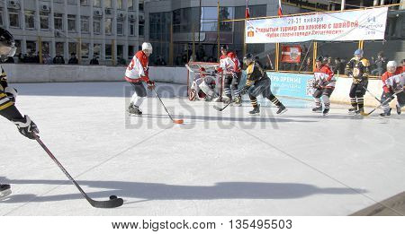 January 31, 2015: Hockey championship The Cup of Mayor Pyatigorsk. Russia Pyatigorsk 31 January 2015