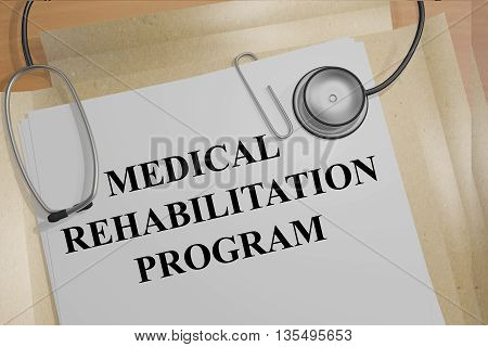 Medical Rehabilitation Program Medical Concept