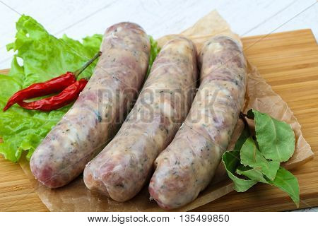 Raw Sausages For Cooking