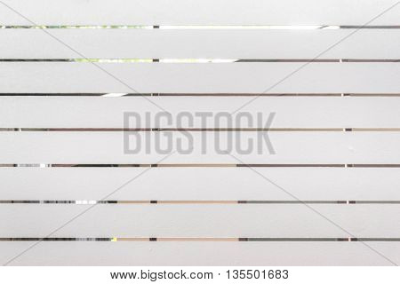Wood Painted White And The Background Blurred House