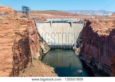 Glen Canyon Dam near Page Arizona, USA