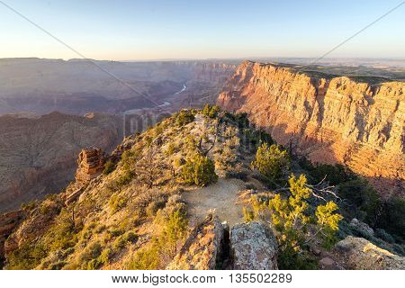 sunset landscape of Grand Canyon from Desert View Point