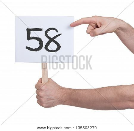 Sign With A Number, 58