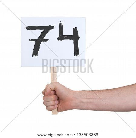Sign With A Number, 74