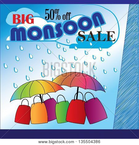 Availing offers at a discount sale-Monsoon sale Advertisement