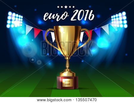 Soccer cup Euro 2016 France football championship eps 10
