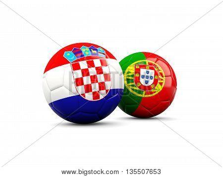 Croatia And Portugal Soccer Balls