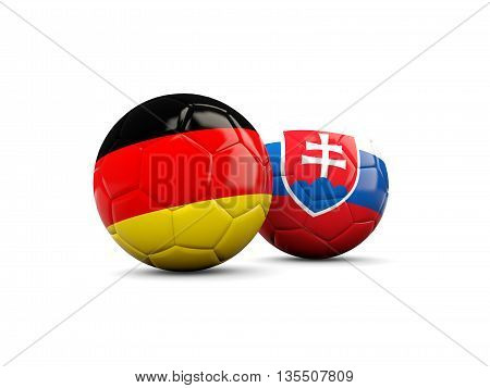 Germany And Slovakia Soccer Balls