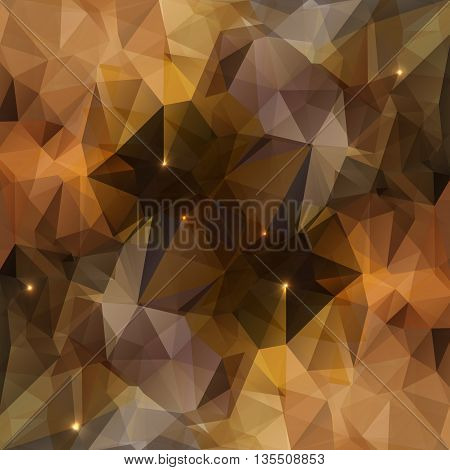Vector background with geometric shapes. Triangle mosaic background with lights. Polygonal design. EPS 10.