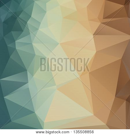 Vector background with geometric shapes. Triangle mosaic background. Abstract beach sand. Polygonal design.