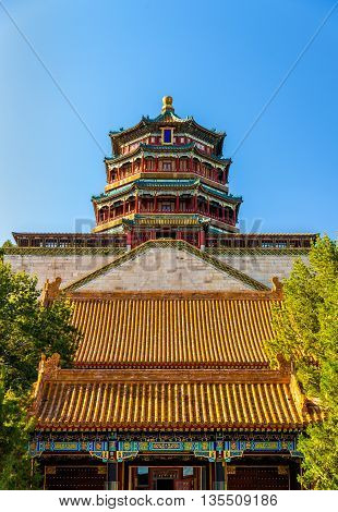 View of the Summer Palace in Beijing, China