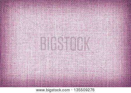 Natural Sackcloth Textured For Background, Pink Colour