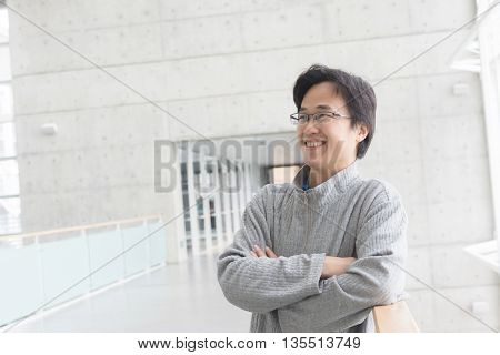 attractive young Asian guy portrait