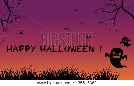 Halloween backgrounds ghost scary vector art illuustration