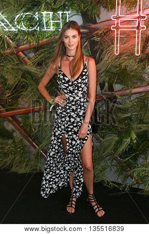 NEW YORK-JUNE 22: Iris van Berne attends the 2016 Coach And Friends Of The High Line Summer Party at The High Line on June 22, 2016 in New York City.