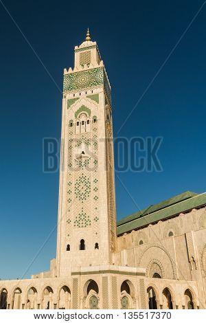 moschea hassan due, islamic church in the sea