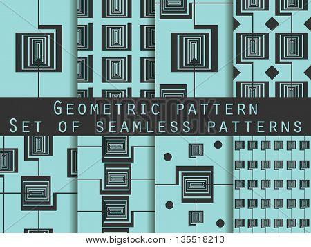 Geometric Seamless Pattern. Art Deco Seamless Pattern. Set. The Pattern For Wallpaper, Tiles, Fabric