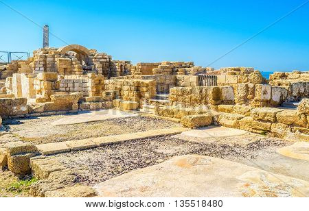 The National Park of Caesaria is the perfect place to discover the ancient archaeological site enjoy the Roman art and architecture Israel.