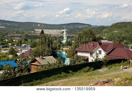 Holy Trinity Cathedral. View from the foot of Mount Fox. Nizhny Tagil. Sverdlovsk region. Russia.