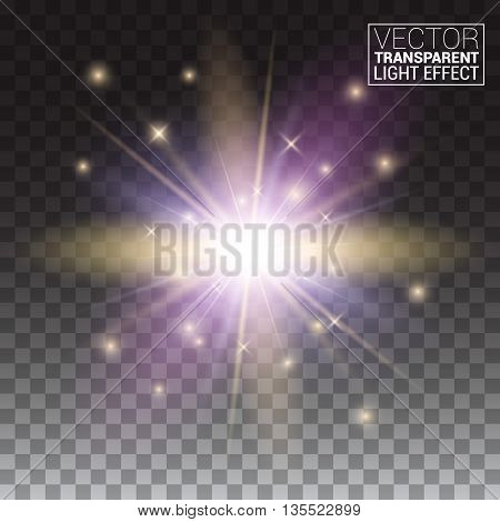 Transparent Vector Effects Series. Easy Replacement Of The Background Light Rays Shine Starlet Explo