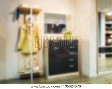 Blur in modern apartment interior as background