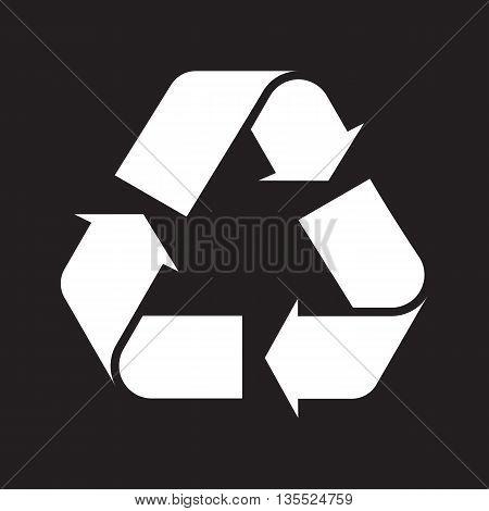 Recycle symbol black background ecology emblem environment