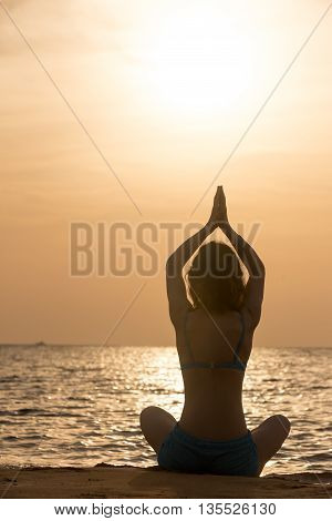 Yoga Practice At Sea Shore