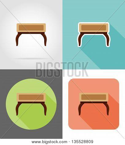 furniture set flat icons vector illustration isolated on white background