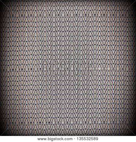 Bamboo black and white straw mat as abstract texture background.