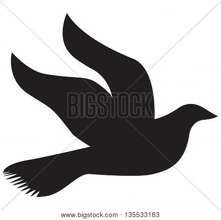 A free flying abstract arabesque background bird card