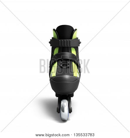 Inline Rollers Skates 3D Render Isolated On White