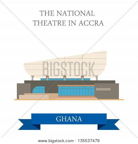 The National Theatre in Accra Ghana vector illustration