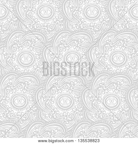 Vector seamless floral pattern. Can be used for wallpaper pattern fills web page background surface textures textile print wrapping paper
