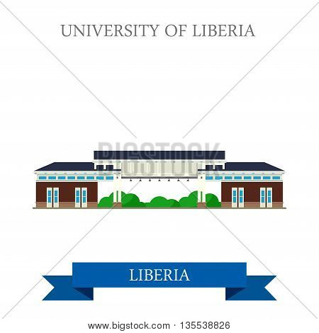 University of Liberia in Monrovia vector illustration