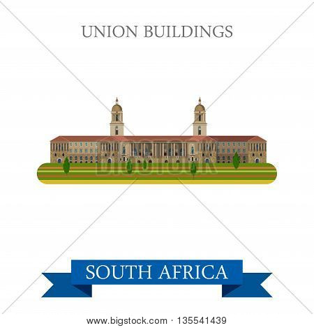 Union Buildings in Pretoria in South Africa vector illustration