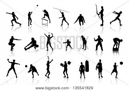 Icons of differents silhouettes representing differents sports