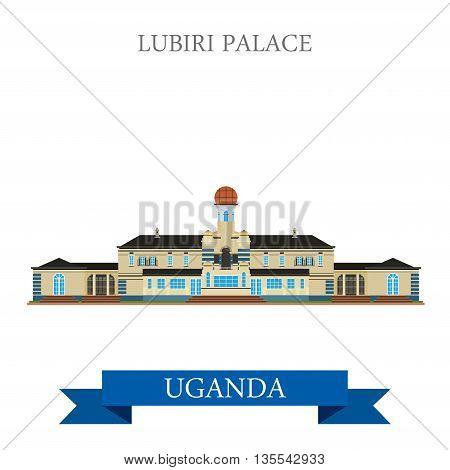 Lubiri Palace Uganda Flat historic sight web vector illustration