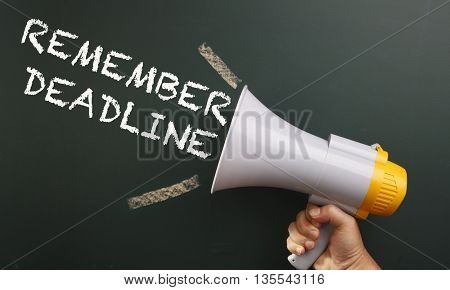 megaphone with text member deadline