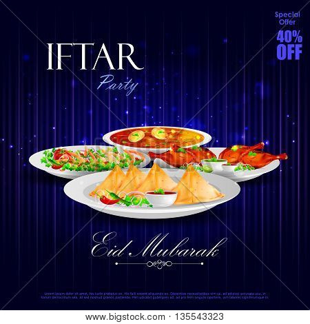 easy to edit vector illustration of Iftar Party background