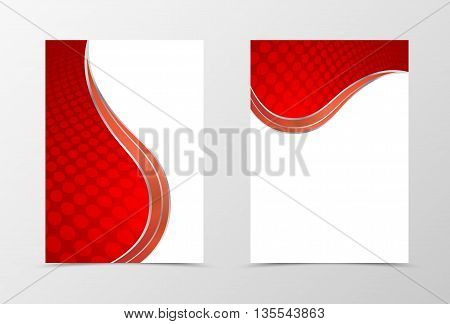 Flyer template design. Abstract flyer template in red color. Circle surface flyer design. Vector illustration