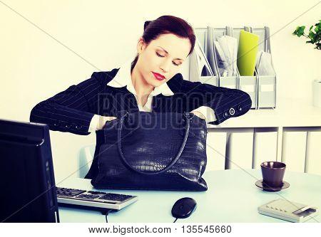 Business woman's handbag.