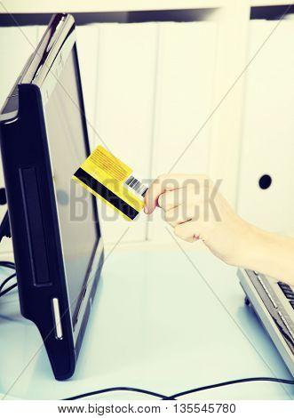 Internet transaction.