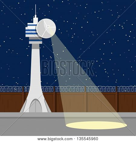 Vector illustration Top secret isolated zone lantern background