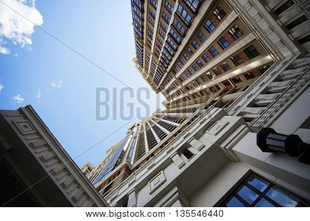 High modern building in Moscow,  Russia .