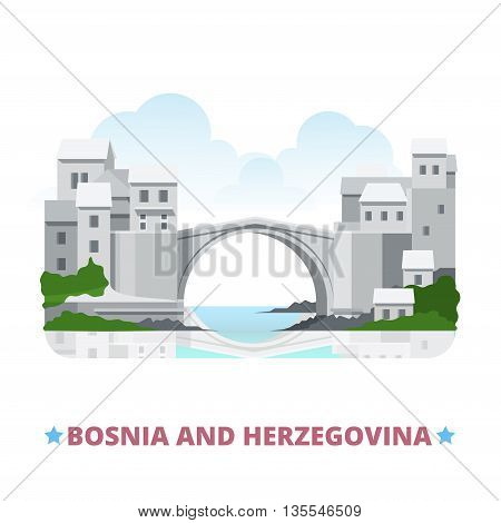 Bosnia and Herzegovina country design template Flat vector