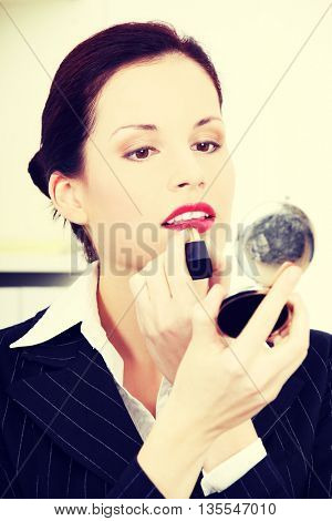 Make-up in office.