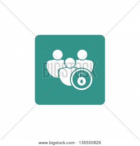 User Open Icon In Vector Format. Premium Quality User Open Symbol. Web Graphic User Open Sign On Gre